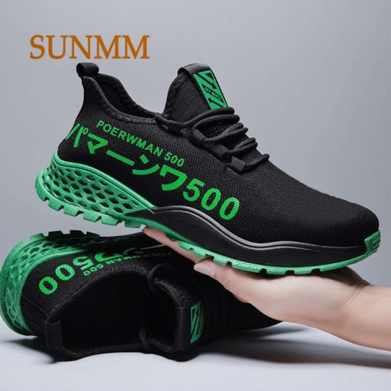 SUNMM Fashion Lace-Up White Sport Shoes For Men Sneakers Light Round Cross Straps Flat Tennis Men Shoes Outdoor Gym